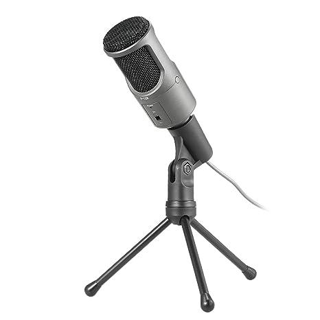 docooler p-128 condensador micrófono 3,5 mm Plug y Play grabación Chat Micrófono