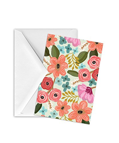 Jillson Roberts 12-Count Gift Enclosure Cards and Envelopes Available in 10 Different Designs, Gypsy (Floral Enclosure Cards)