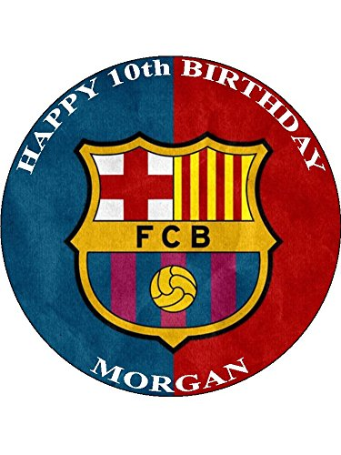 Barcelona Fc 7 5 Round Personalised Fre Buy Online In Antigua And Barbuda At Desertcart