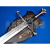 S0704 Movie Lord of the Rings Anduril sword of King Elessar Aragorn w/ wall mount 52.2""