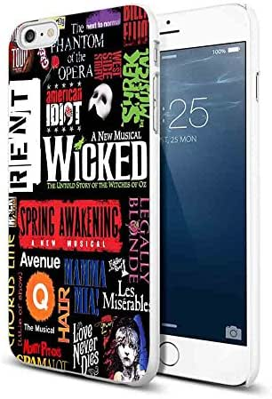 Broadway Musical Collage for Iphone and Samsung Galaxy Case (iPhone 6/6s white)
