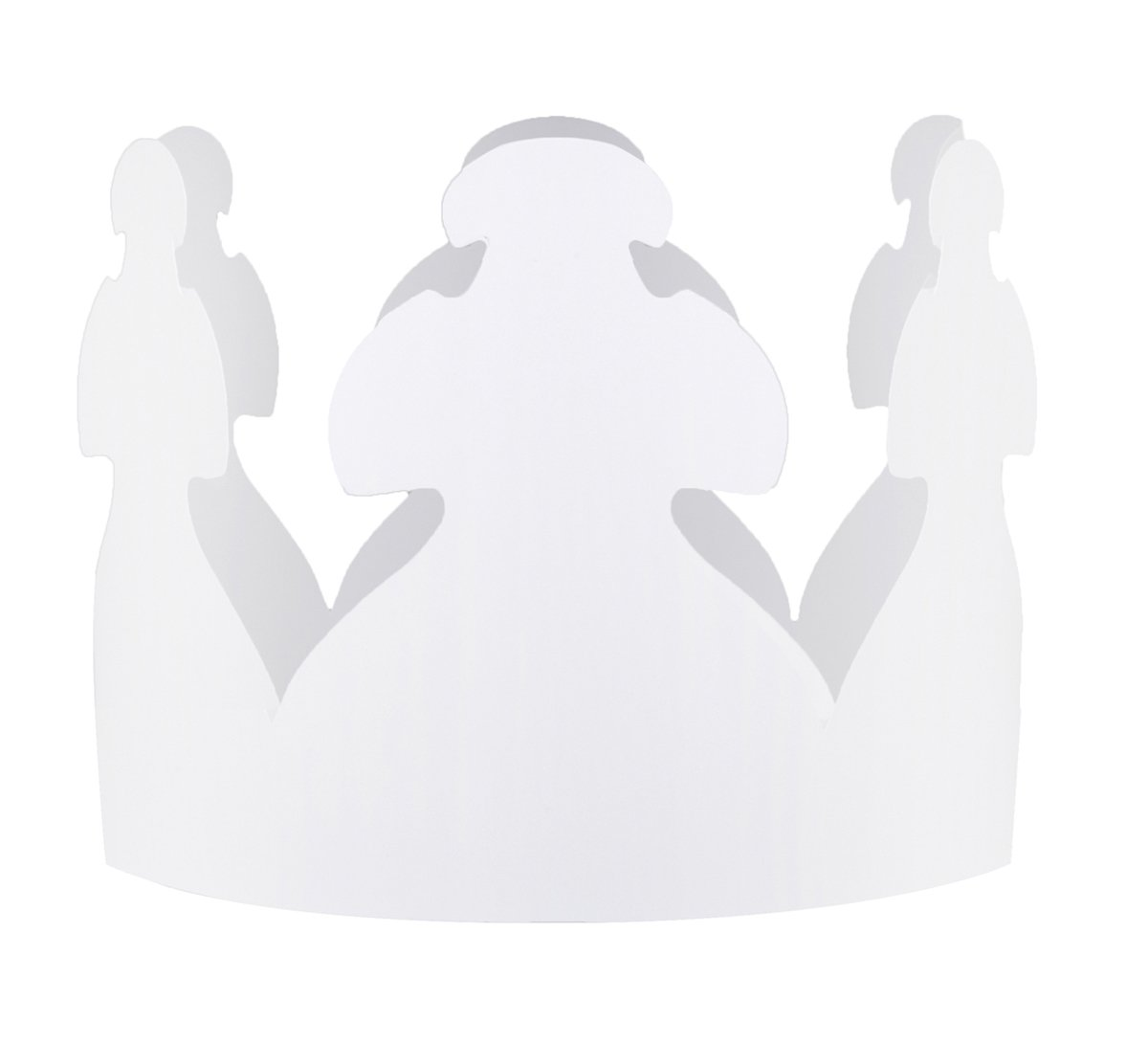 Hygloss Products 66523 Bulk White Paper Party Crowns - Pre-Cut-Ready to Wear-Fun to Decorate-Made in The USA-144 Pack, 144 Pieces by Hygloss