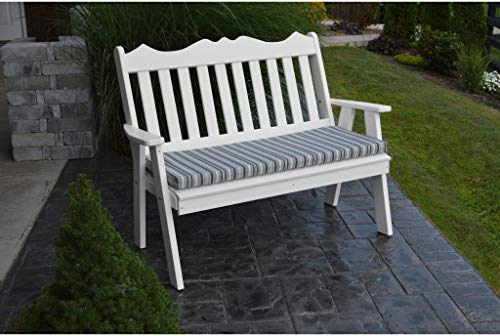 (A&L Furniture Company Recycled Plastic 5' Royal English Garden Bench - Ships Free in 5-7 Business Days)