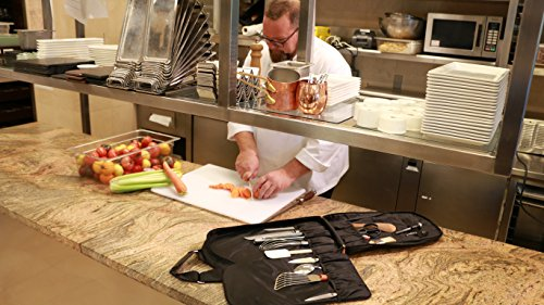 M(sqd) Roundsman Chef Knife Bag, Holds 17 Knives and Utensils with 3 Pockets for Tablet and Notebook by M(sqd) (Image #6)
