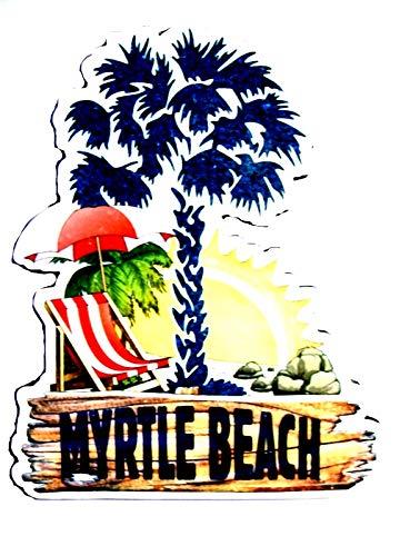 Palm Tree Refrigerator Magnet - Myrtle Beach South Carolina with Palm Tree Fridge Magnet