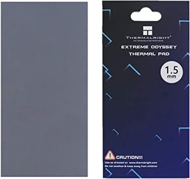1mm Non Conductive Heat Resistance High Temperature Resistance nkomax Thermalright Thermal Pad 12.8 W//mK Silicone Thermal Pads for Laptop Heatsink//GPU//CPU//LED Cooler 85x45x1mm