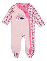 "Chick Pea Baby Girls' ""Berry Loved"" Footed Coverall"