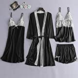 ◈ HebeTop ◈ 5Pcs Sexy Pajamas for Women Silky
