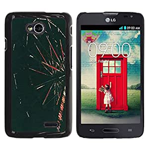iKiki Tech / Estuche rígido - Go Around Retro Photo - LG Optimus L70 / LS620 / D325 / MS323