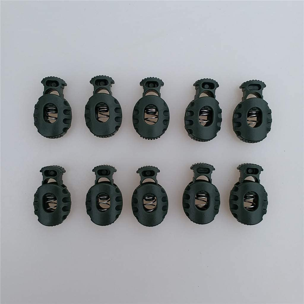 10Pcs Noir Baoblaze Ensemble Bouchons de Verrouillage Serrure Cork en Plastique Cordon de Verrouillage Extr/émit/é