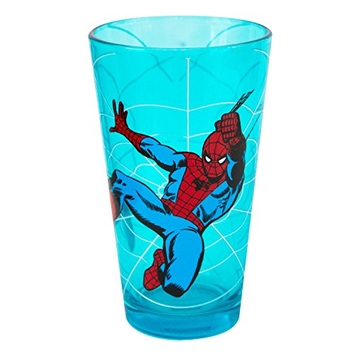 Spider-Man Swinging Red Pint Glass