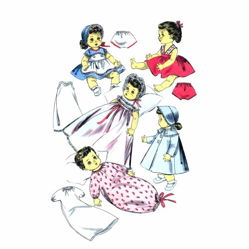 1950s Betsy Wetsy Suzy Doll Clothes Advance 8454 Vintage Sewing Pattern Fits 13 1/2 inch Dolls