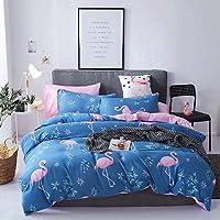 Bedding Set of 4 Pieces, Cotton,Single Size,Flamingo Design