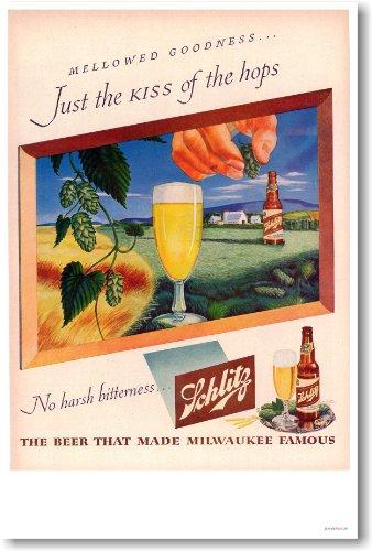 Schlitz Beer Vintage Ad Reprint Poster