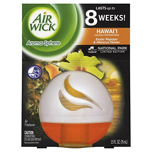 Price comparison product image Air Wick Aroma Sphere Room Deodorizer,  Hawaii,  2.5oz,  Air Freshener