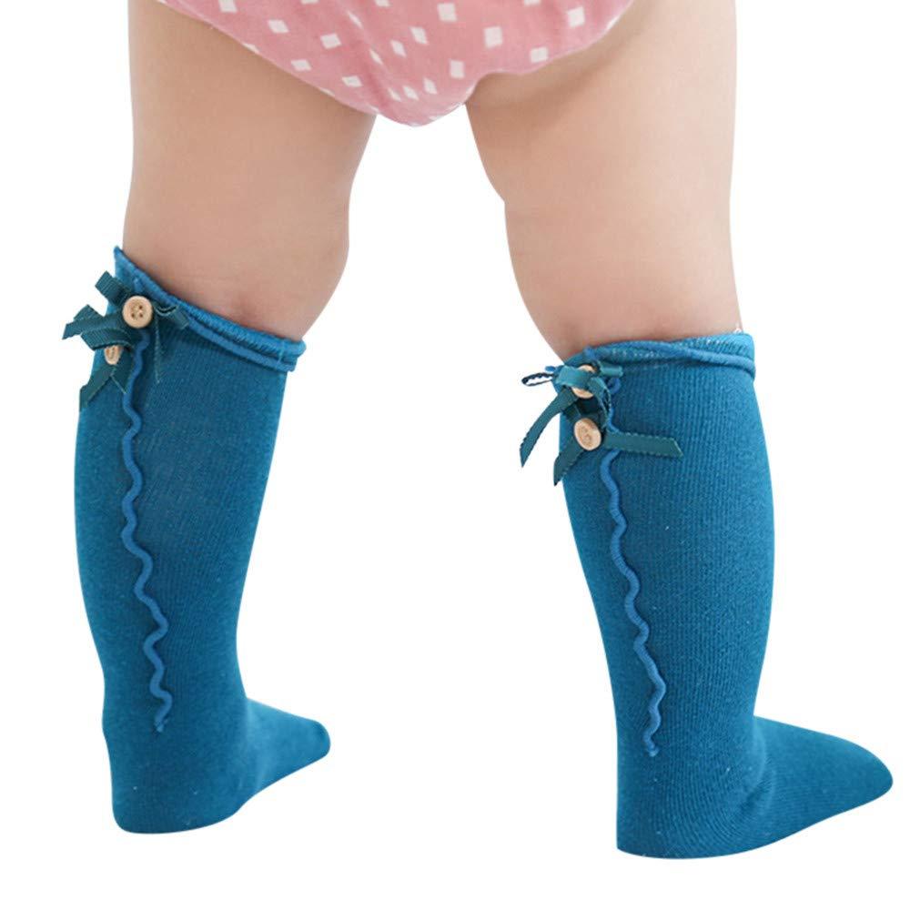 Kinder Kleinkind Socken Baby M/ädchen Cartoon Anti-Slip Gestrickte Lange Socken Kniestr/ümpfe Huhu833 Baby Socken