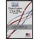 "Frame USA Hardboard Posterframe Frames, 13 x 19"", Black"