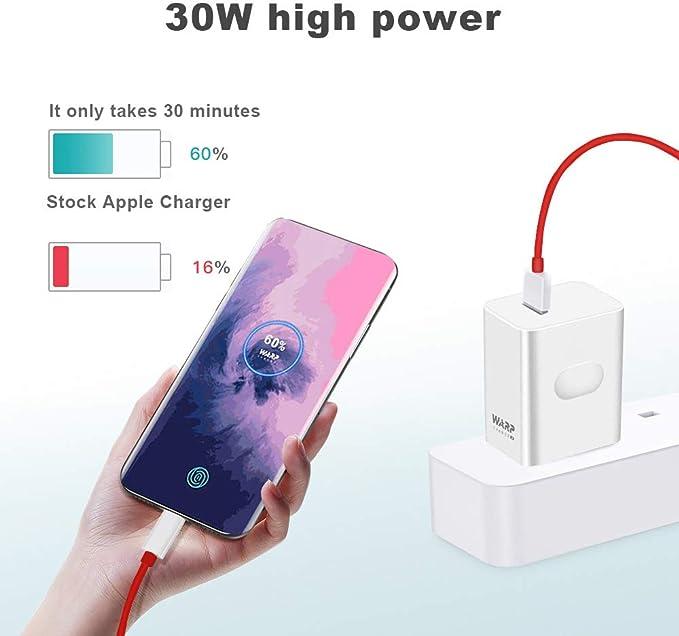 Amazon.com: Cargador WNIEYO Warp, cargador OnePlus 7 Pro [5 ...