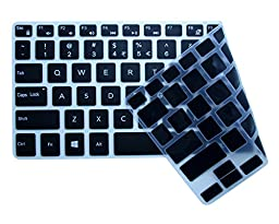 CaseBuy Ultra Thin Silicone Keyboard Protector Cover Skin for Newest Model Dell XPS 13-9343 13-9350 13-9360 13.3-Inch Ultrabook Computer (Black)