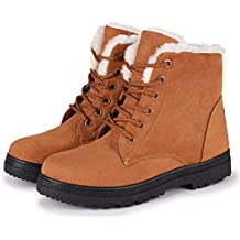 NOT100 Woman Waterproof Boot Size 11 is Ok (Warm Fur-Lined) (Lace Up) (2018 New Design)