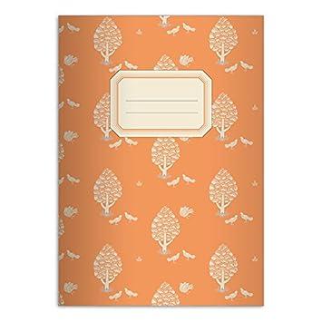 blau Lineatur 6 Kartenkaufrausch 4 sch/öne Retro DIN A5 Schulhefte blanko Heft Schreibhefte mit Central Park Motiv
