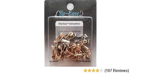4eff48e47 Amazon.com: Clip-on Earring Converter. 12 Pair! Turn Any Post or Stud  Earring Into a Clip-on Earring!