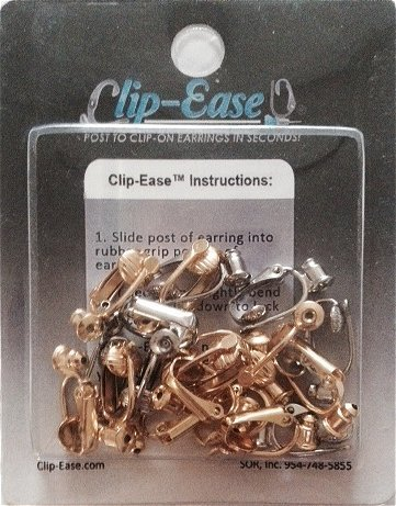 Clip-on Earring Converter. 12 Pair! Turn Any Post or Stud Earring Into a Clip-on Earring! (Clip Earring Converter)
