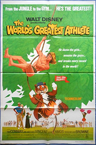 THE WORLD'S GREATEST ATHLETE MOVIE POSTER Jan-Michael Vincent Walt Disney - Walt Posters World Disney