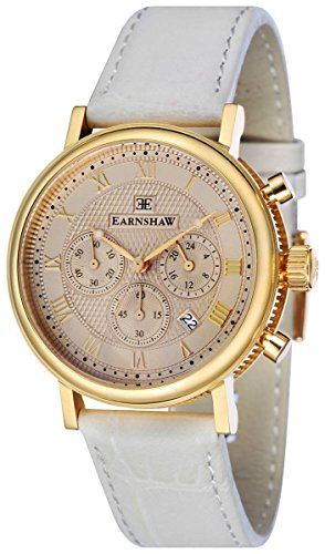 Thomas Earnshaw Womens The Beaufort Watch - Champage/Cream/Gold