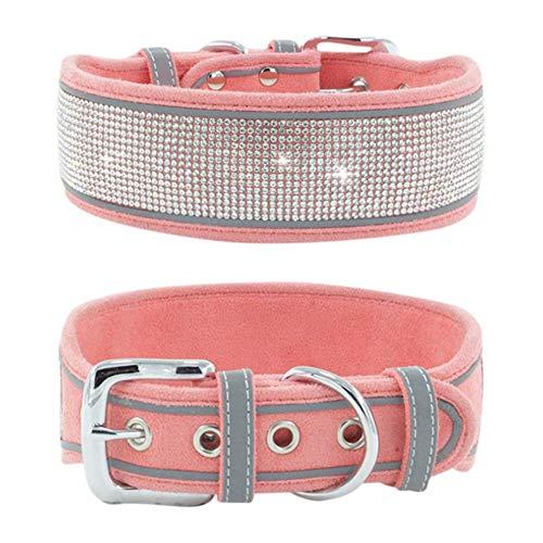 Patgoal Dog Collar for Large Dogs, Rhinestones Dog Collar, Bling Diamond Girl Dog Collars for Medium Dogs, Adjustable…