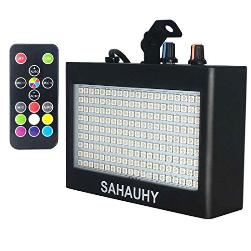Strobe Lights,SAHAUHY 35W 180 LEDs Super Bright Flash Stage Lighting with Remote Control(Black 2) (Strobe Super)