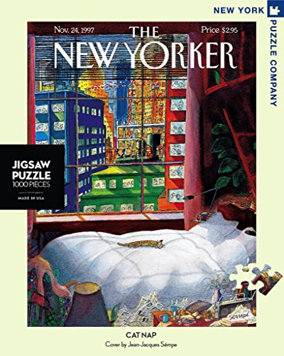 New York Puzzle Company - New Yorker Cat Nap - 1000 Piece Jigsaw Puzzle