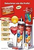 Party - Helium - Mini - Einwegflaschen-Set mit 10 Ballons + Band / Luftballongas