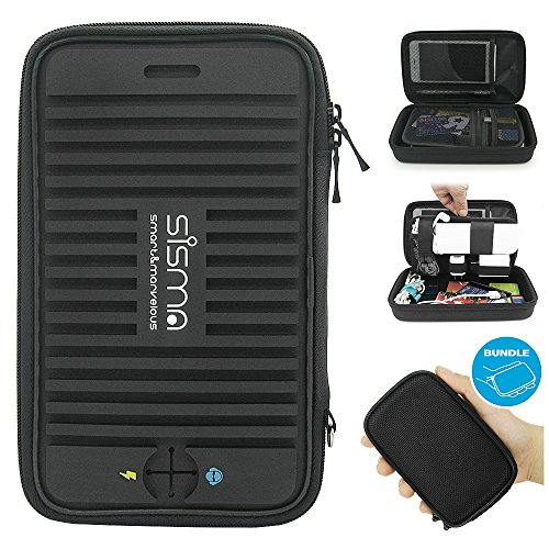 Sisma Travel Organizer Carrying Bag 2 in 1 for Electronics and Accessories Black Bundled SCB16128S-B