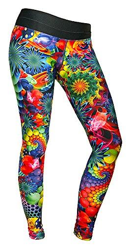 FeelJ, women's leggings with sea world motifs, long blue/yellow/green Feel JOY! FJ5902349672137