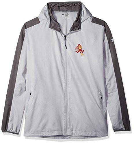 Under Armour NCAA Arizona State Sun Devils Mens NCAA Men's Lightweight Windbreaker, XX-Large, Overcast (Devils Mens Sweatshirts)