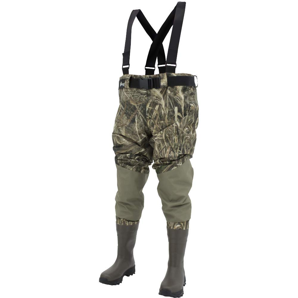 Frogg Toggs Grand Refuge 2.0 Bootfoot Waist Wader, Cleated Outsole, Camo