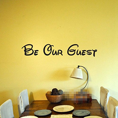 (Home Décor Wall Sticker Mural Be Our Guest for Family Home)