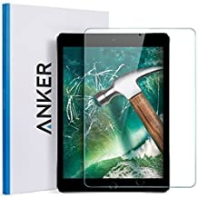 Anker  New iPad 9.7 in (2018/2017) / iPad Air 2 / iPad Pro 9.7 in / iPad Air Screen Protector, Anker Tempered Glass Screen Protector with Retina Display, Anti-Scratch, Smudge-Resistant, Easy Installation