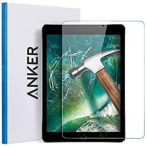 Anker-New-iPad-97-in-20182017-iPad-Air-2-iPad-Pro-97-in-iPad-Air-Screen-Protector-Anker-Tempered-Glass-Screen-Protector-with-Retina-Display-Anti-Scratch-Smudge-Resistant-Easy-Installation