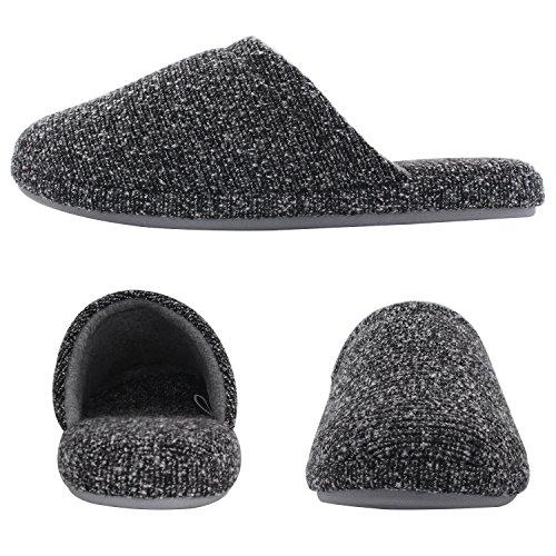 HomeTop - Zapatillas de estar por casa para hombre gris