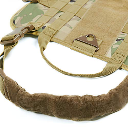 Vevins-Dog-Tactical-Service-Harness-Training-Molle-Vest-Adjustable-Camouflage-Harness-with-3-Detachable-Pouches