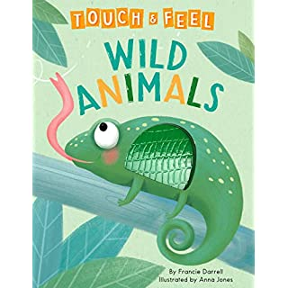 Wild Animals: A Touch and Feel Book - Children's Board Book - Educational