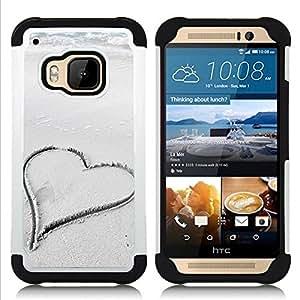 /Skull Market/ - Lover Heart For HTC ONE M9 - 3in1 h????brido prueba de choques de impacto resistente goma Combo pesada cubierta de la caja protec -