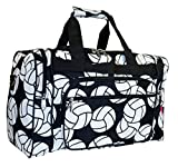 N Gil Volleyball Print Duffle Bag