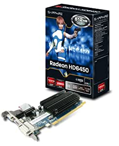 Sapphire Radeon HD 6450 - Tarjeta gráfica ATI (memoria de 512 MB DDR3, VGA, DVI, HDMI)
