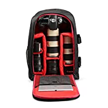 G-raphy Camera Backpack Camera Bag Padded Backpack for DSLR SLR Cameras