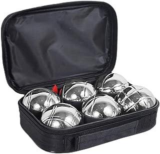 JMS Boules Kugeln Set Spiel Boulekugeln Boccia Bocciakugeln Wettkampf # Tasche Transporttasche 6 Bälle