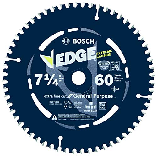 Bosch DCB760 7-1/4 In. 60 Tooth Edge Circular Saw Blade for Extra-Fine Finish ()