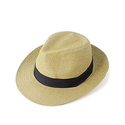 Sun Hat Beach Fedora Panama Wide Brim Trilby Straw Cap Summer Sunhat